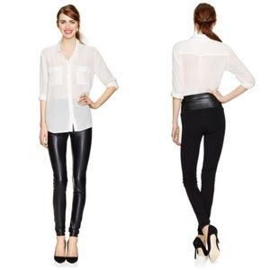 Aritzia Wilfred Free Vegan Leather Front Pants